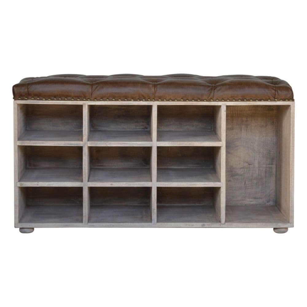 Buffalo Hide Acid Wash Shoe Cabinet